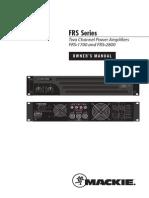 FRS Series Amps OM
