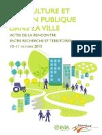Actes Agriculture Et Action Publique Dans La Ville Inra-fuenla