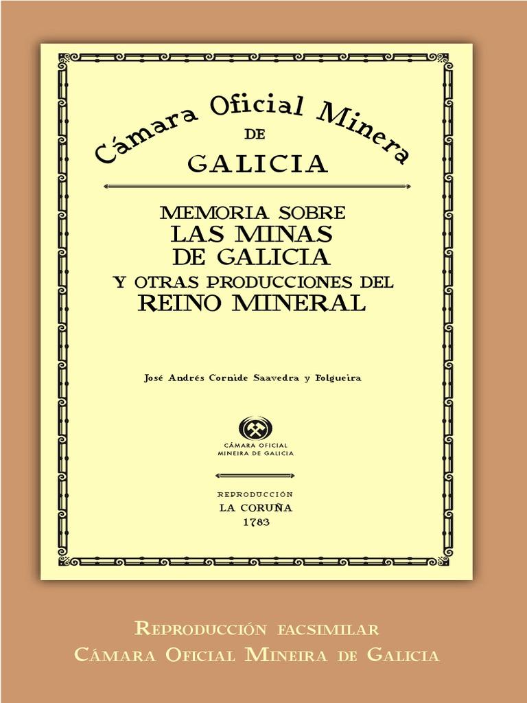 Memoria Sobre Las Minas De Galicia Y Otras Producciones Del Reino  # Muebles Bembibre