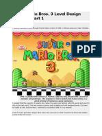 Super Mario Bros 3 Design