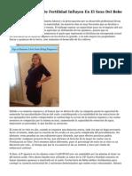 Los Tratamientos De Fertilidad Influyen En El Sexo Del Bebe