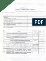 Actiunea 2 Evaluare Riscuri Chestionar
