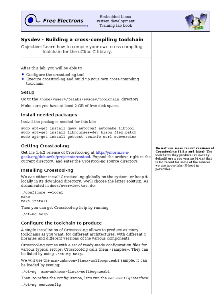 Embedded Linux System Development Training Lab Book