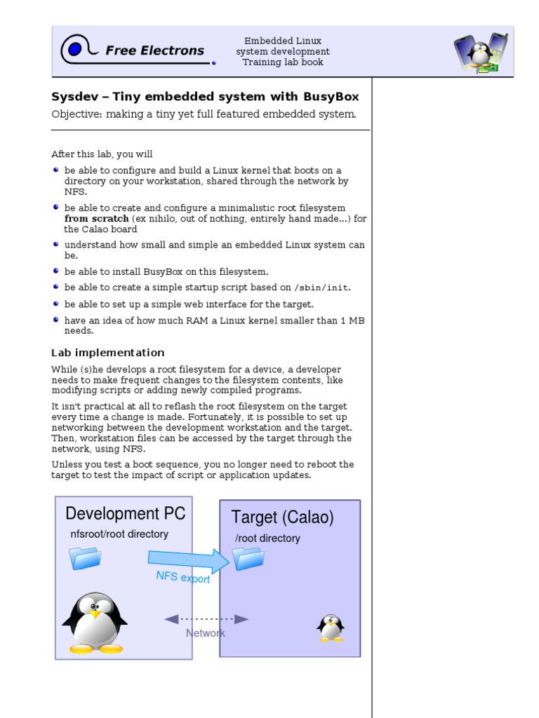 Embedded Linux System Development Training Lab Book | File