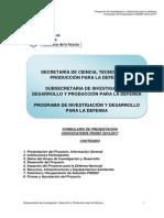 Formulario PIDDEF Presentacion 2014 2017