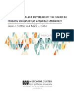 Can a Research and Development Tax Credit Be Properly Designed for Economic Efficiency?