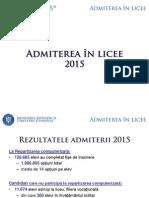 Repartizare la Liceu 2015 - Raport al Ministerului Educatiei