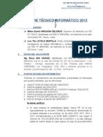 Informe Tecnico Informatico 2013 Vale