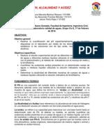 Ph Alcalinidad y Acidez.
