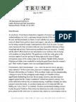 Donald Trump Letter to LPGA head