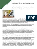 15 Wichtige Dinge Zu Fragen, Bei der Entscheidung f?r Ein Pflegeheim