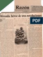 Miranda Héroe de Tres Revoluciones Eloy Reverón