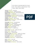Estos Adverbios Nos Indican La Periodicidad Con La Que Se Realiza Una Acción