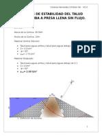 Análisis de Estabilidad Del Talud Agua Arriba a Presa Llena Sin Flujo