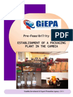 Packaging Plant Investment Proposal