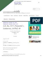 G.R. No. 3377 Pimentel v. Gutierrez 14 Phil. 49