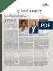 Bolstering food security