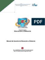 Manual Del Docente de Educación a Distancia