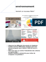 Fiche Environnement Pollution preparation au A-level (oral)