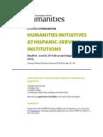 Humanities Initiatives Hispanic Jun 26 2014