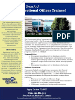 PNJCF Correctional Officer Trainee Flyer