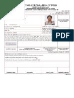 Fci __ Admit Card