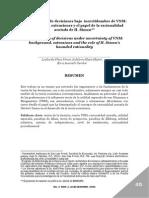 Sobre La Teoría de Decisiones Bajo Incertidumbre de VNM