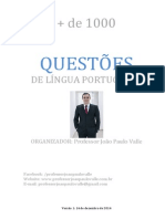 1000 Questões Português Prof João Paulo Valle Versão 01 14.12.2014
