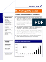 Deutsche Bank - The Arbitrage CDO Market (2000-03)