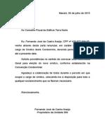 Carta Renuncia Fernando