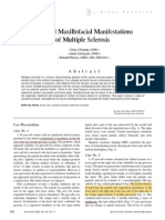 Multiple sclerosis Maxillofacial.