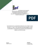 """DIAGNOSTICO DE  LAS MANIFESTACIONES DE LOS ACTORES CLAVES DEL 1RO """"E"""" Y 1RO """"F"""" DE LA ESCUELA NACIONAL BÁRBULA I ANTE EL DESARROLLO DE ESTRATEGIAS SIGNIFICATIVAS PROMOVIDAS DESDE LA ACCIÓN ESCOLAR."""