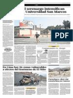 El Comercio  - 13-07-2015 - En Lima hay 86 zonas vulnerables a efectos del fenómeno del Niño.pdf
