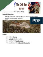 civil war - key concepts