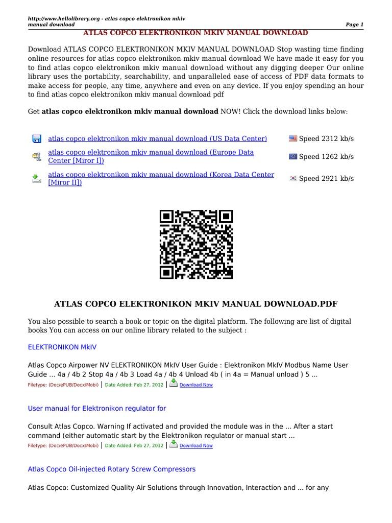 elektronikon manual rh elektronikon manual tempower us