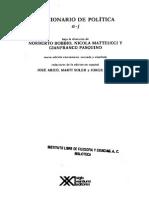 Democracia en Bobbio, Norberto, (1997), Diccionario de Política