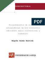 Procedimientos de solución extrajudicial de los conflictos laborales