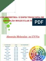 Colorimetria e Espectroscopia de Absorção Molecular No UV-2
