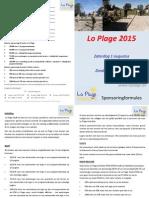 Lo Plage 2015 - Sponsoring Info (v.1.01)