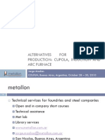 Alternatives for Hot Metal Production - Cupola, Induction and Arc Furnace