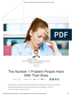 The Number 1 Problem People Have With Their Boss _ Bernard Marr _ LinkedIn