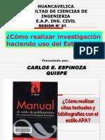 SESION N° 01 - COMO REALIZAR INVESTIGACIONES EN EL ESTILO APA
