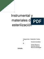 Instrumental y Materiales de Esterilización