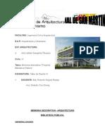 Memoria Descriptiva -Biblioteca Publica