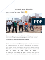 11-07-2015 Ángulo 7 - Museo Barroco Será Sede Del Quinto Informe de Labores, RMV