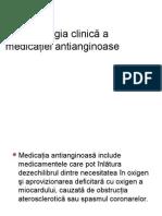 Farmacologia Clinică a Medicaţiei Antianginoase