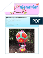 Pattern African Flower Hot Air Balloon by NienepienPDF
