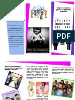 Triptico Buenas Prácticas Para La Igualdad Entre Sexos.