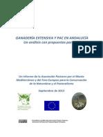 Informe Ganadería Extensiva y PAC en Andalucía _ Septiembre 2013