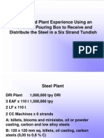 Design and Plant Experience Using an Advanced Pouring Box to Receive and Distribute the Steel in a Six Strand Tundish